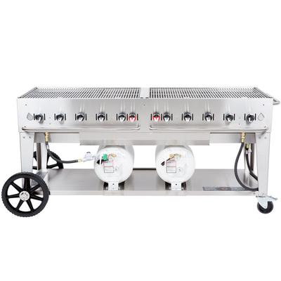 "Crown Verity CCB-72-LP 72"" Outdoor Club Grill with 2 Hori..."
