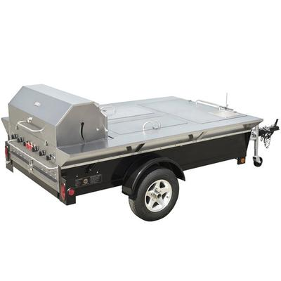 "Crown Verity TG-4 69"" Tailgate Grill with Beverage Compar..."
