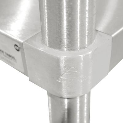 Advance Tabco BG-304 Wood Top Baker's Table with Galvaniz...