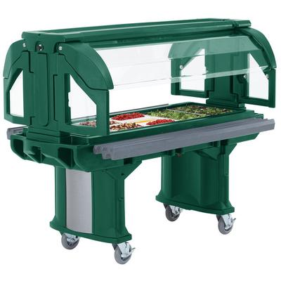 Cambro VBRHD5519 Green 5' Versa Food / Salad Bar with Hea...