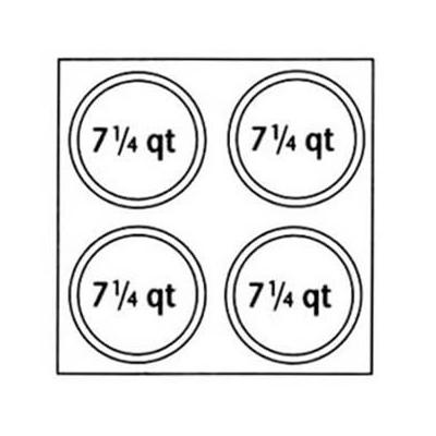 Nemco 67409 Adapter Plate w/ (4)7.25 qt Inset Holes For M...