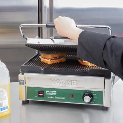 WARING-COMMERCIAL WPG250B Panini Supremo Grooved Top & Bo...