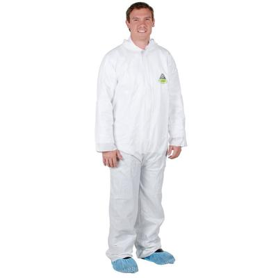 White Disposable Microporous Coveralls - Large