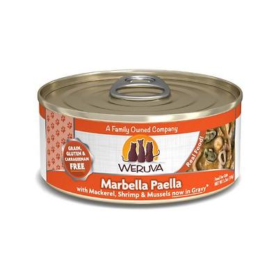 Weruva Marbella Paella with Mackerel, Shrimp & Mussels Grain-Free Canned Cat Food, 5.5-oz, case of 24