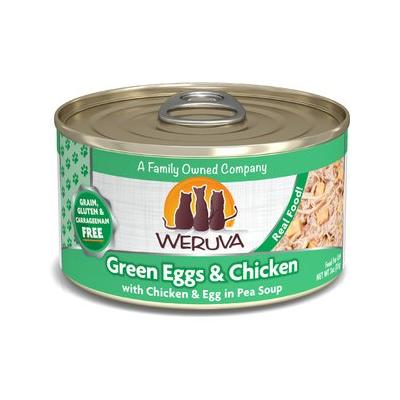 Weruva Green Eggs & Chicken with Chicken, Egg & Greens in Gravy Canned Cat Food, 3-oz, case of 24