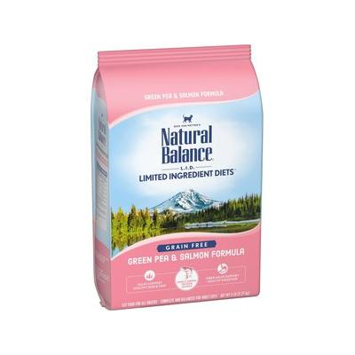Natural Balance L.I.D. Limited Ingredient Diets Green Pea & Salmon Formula Grain-Free Dry Cat Food, 5-lb bag