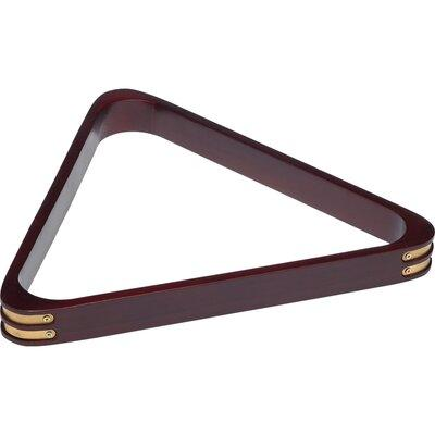Cuestix 8 Ball Rack with Brass Corners RK8B Color: Wine