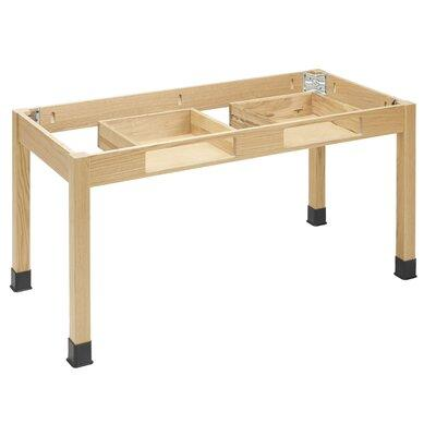 Diversified Woodcrafts Plain Apron Science Table With 2 Book Compartments C7