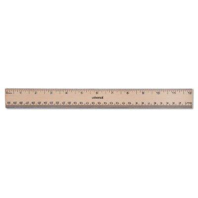 Universal Products Flat Wood Ruler W/Double Metal Edge UN...