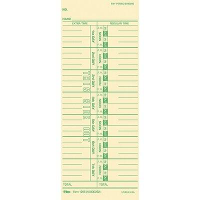 Tops BUSINESS FORMS Time Cards TOP12563