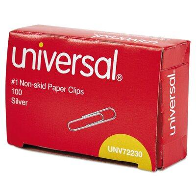 Universal Products Nonskid Paper Clips 100/Box 10 Boxes/P...
