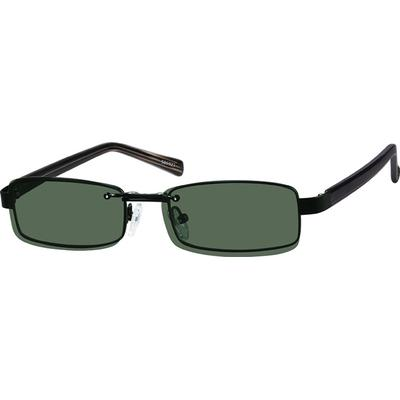 bc4bd72064 A rectangle full rim frame with matching polarized magnetic snap-on  sunshade.