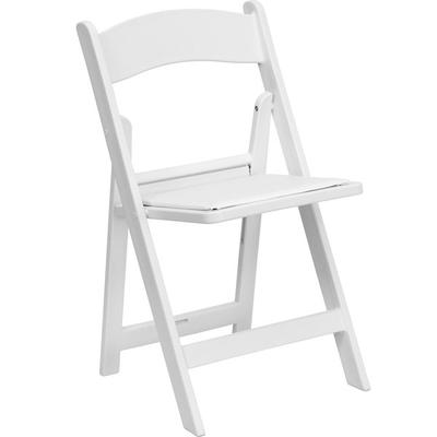 FLASH Furniture LE-L-1-WHITE-GG White Plastic Folding Cha...