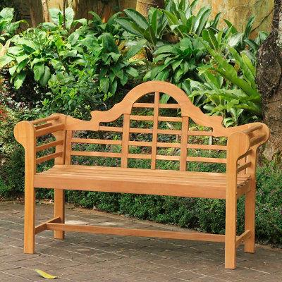 All-Natural Teak Lutyens Outdoor Bench - Grandin Road
