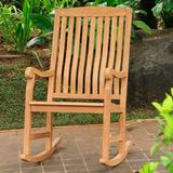 All-Natural Teak Outdoor Rocking Chair - Grandin Road
