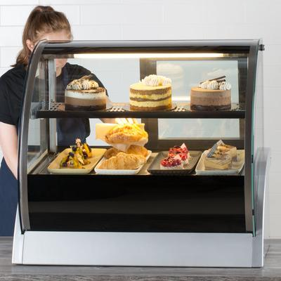 "Vollrath 40852 36"" Curved Glass Refrigerated Countertop Display Cabinet"
