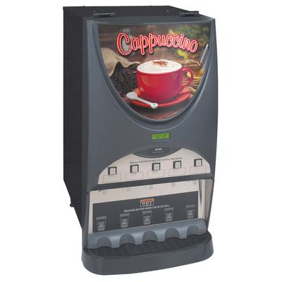 BUNN 38100.0050 iMIX-5S+ Top Hinge Hot Beverage System With 5 Hoppers High efficiency LED Lighted Front Graphics High Speed Heavy-dut