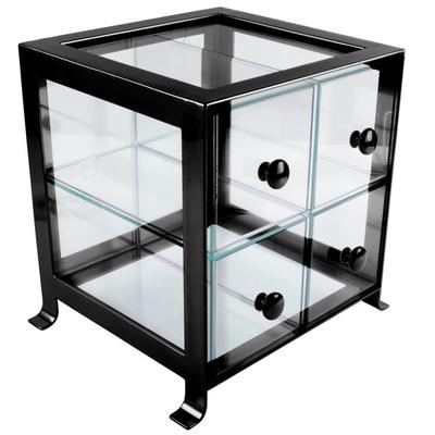 CAL-MIL 1586-13 Soho Four Drawer Black Steel Bread Case -...