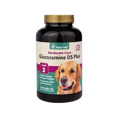 NaturVet Glucosamine DS with MSM & Chondroitin Hip & Joint Stage 2 Max Dog & Cat Tablets, 60 count