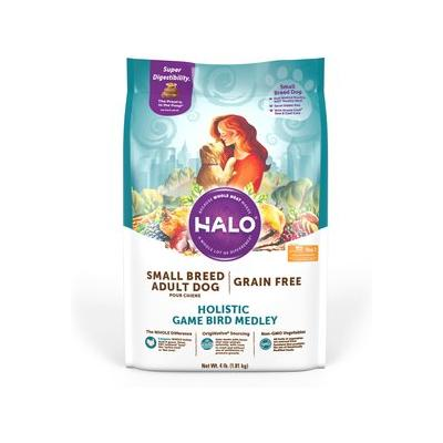 Halo Holistic Game Bird Medley Grain-Free Small Breed Dry...