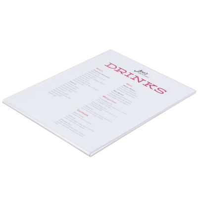 """CAL-MIL 214 Wall Mount U-Style Rate Card Holder - 8 1/2"""" ..."""
