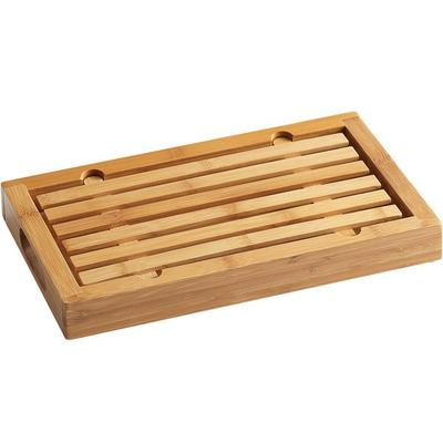 "CAL-MIL 823 Bamboo Crumb Catcher Cutting Board - 13 3/4"" ..."