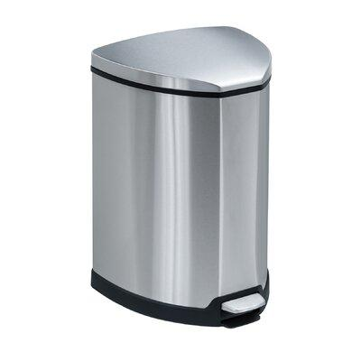 Safco Step-On Receptacle, 4 Gallon 9685SS (Stainless Steel)