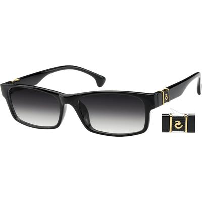 Zenni Mens Retro Sunglasses Black Frame Tr A8258221