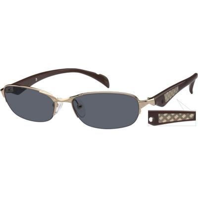 Zenni Womens Sunglasses Gold Frame Mixed Materials A8761414