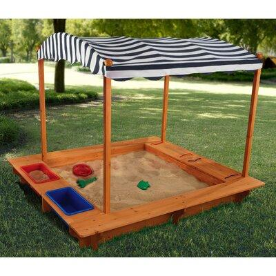 Kid Kraft 5' Rectangular Sandbox with Canopy 00165