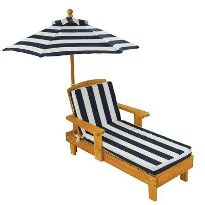 Kid Kraft Kids Chaise Lounge with Cushion and Umbrella 00105
