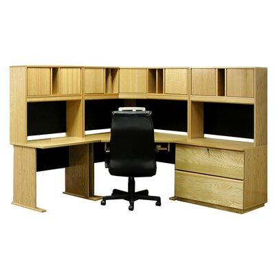 Rush Industries Office Modulars Computer Desk with Hutch ...