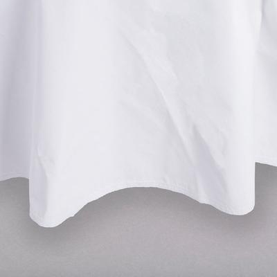 """Intedge Industries 60"""" Round White Vinyl Table Cover with..."""