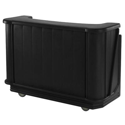 "Cambro BAR650PMT110 Black Cambar 67"" Portable Bar with 7-..."