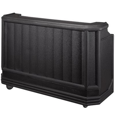Cambro BAR730PMT110 Black Cambar 73 Portable Bar with 7Bottle Speed Rail and Complete Post Mix System with Water Tank