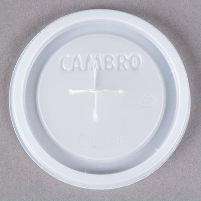Dinex Cambro CLJ6 Disposable Translucent Lid with Straw S...