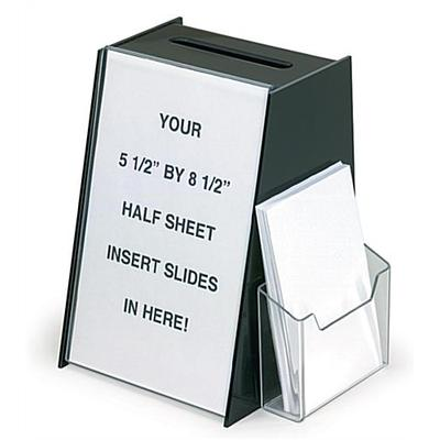 Displays2go Employee Suggestion Box w/ Pocket (Small)