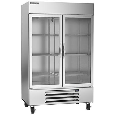 Beverage-Air HBR49-1-G-LED True Two Glass Door Bottom Mou...