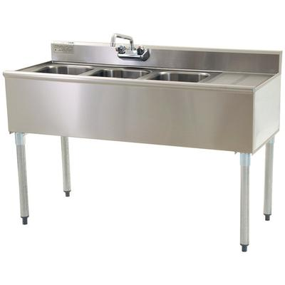 """Eagle Group B5R-22 60"""" Underbar Sink with Three Compartme..."""