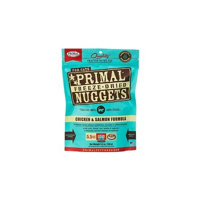 Foster & Smith Primal Chicken & Salmon Formula Nuggets Grain-Free Raw Freeze-Dried Cat Food, 5.5-oz bag