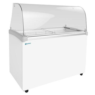 """Excellence EDC-8C 48"""" Curved Glass Ice Cream Dipping Cabinet"""