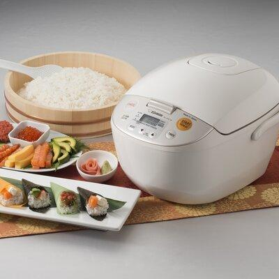 Zojirushi Micom Rice Cooker and Warmer White 10 Cup Japan, Beige/Bisque