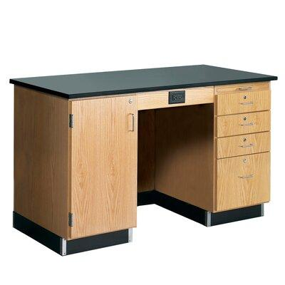 Diversified Woodcrafts 5' Wide Instructor's Desk 1216KF-L...