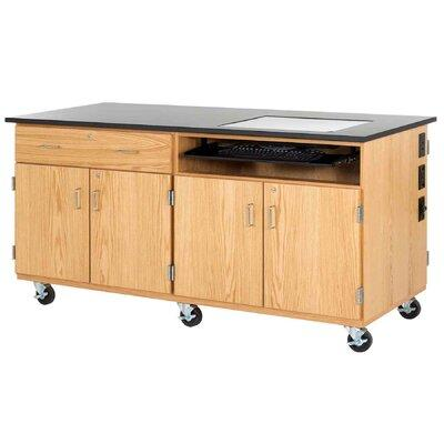 Diversified Woodcrafts Interactive Mobile Media Cabinet 4...