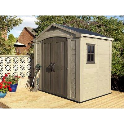 Keter Factor 8 ft. 5 in. W x 6 ft. D Plastic Storage Shed...