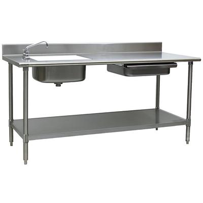 Sink on Left Eagle Group PT 3096 Stainless Steel Prep Tab...