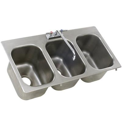Eagle Group SR14-16-9.5-3 Three Compartment Stainless Ste...