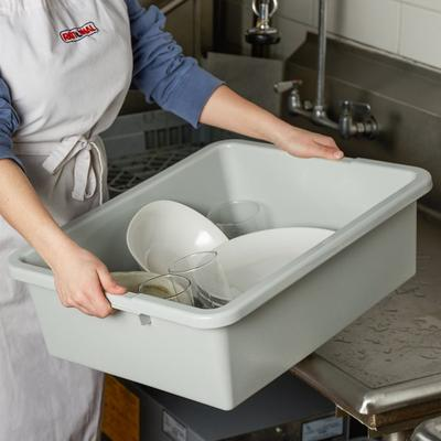 "Tablecraft 1557G Gray 21"" x 17"" x 7"" Heavy Duty Polyethyl..."