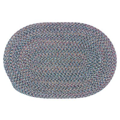 Colonial Mills Woolux Braided Oval 60 x 84 Rug, Blue