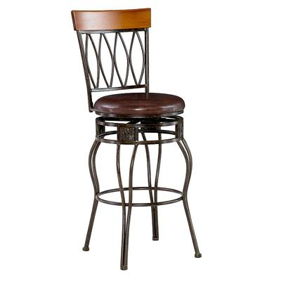 Linon Oval-Back Bar Stool, Multicolor